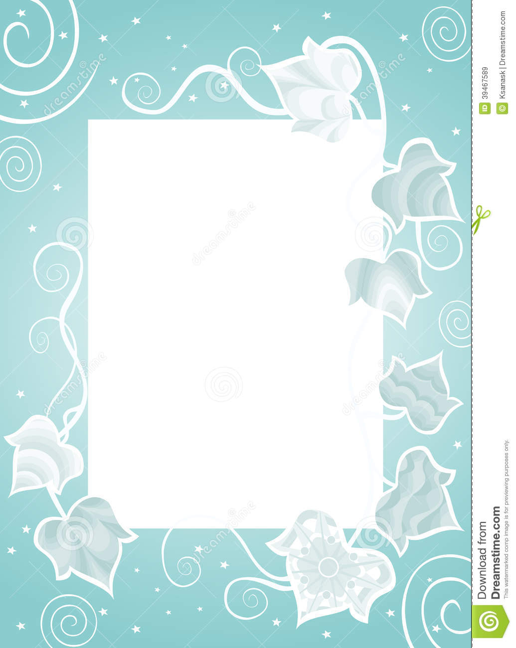 Frame With Fancy Ivy Stock Vector - Image: 39467589 Fancy Color Border