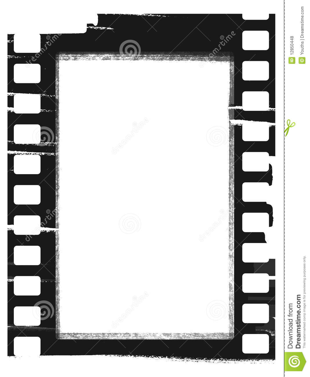 film strip picture template - frame of film vector stock vector illustration of