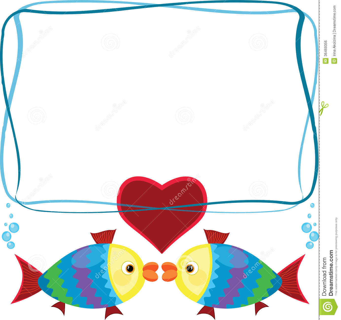 frame with fish royalty free stock image