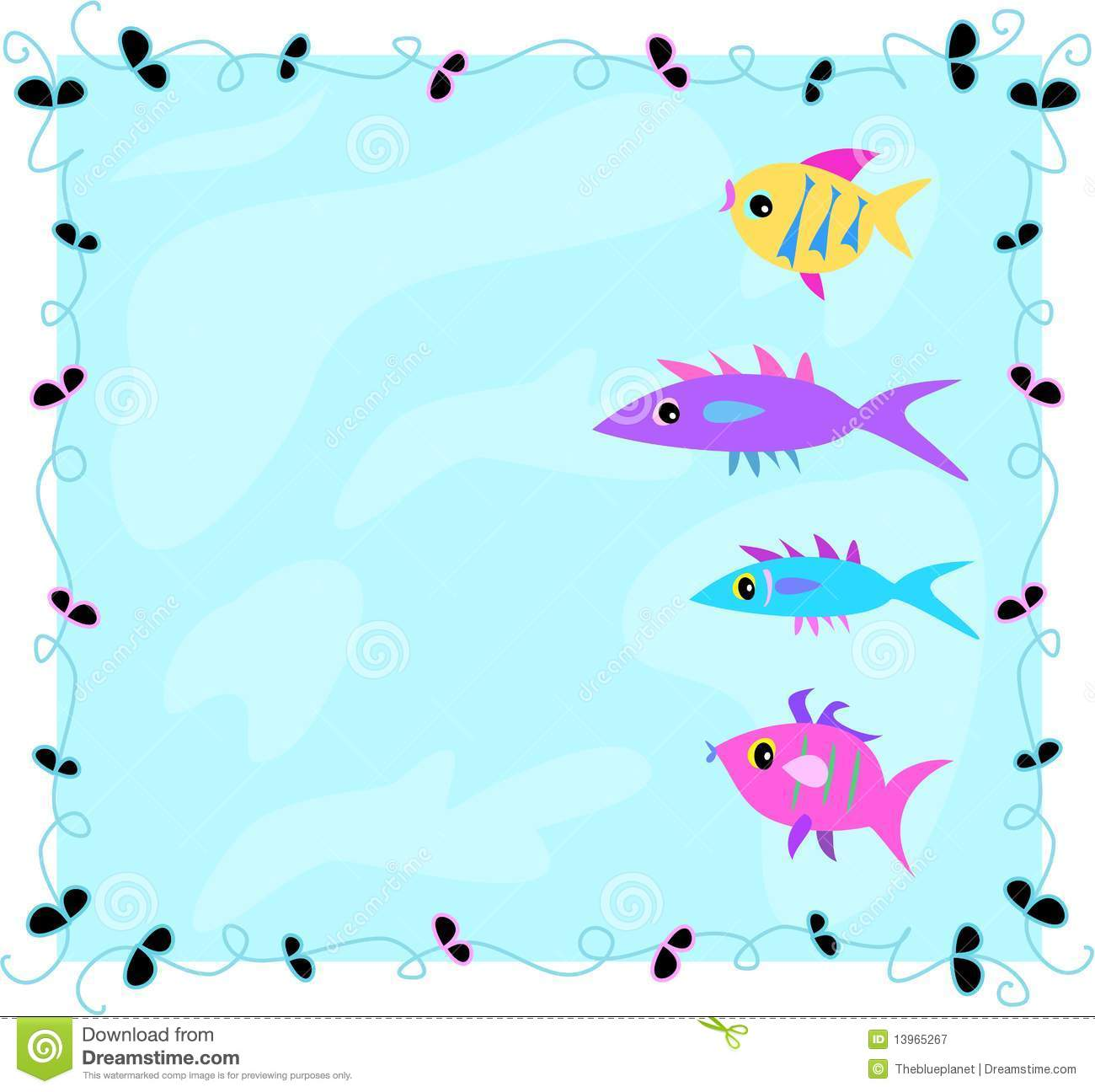Frame of fish in water royalty free stock photography for Fish photo frame