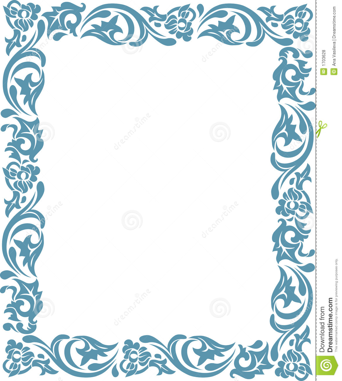 Frame With Floral Ornaments Stock Vector - Illustration of vector ...