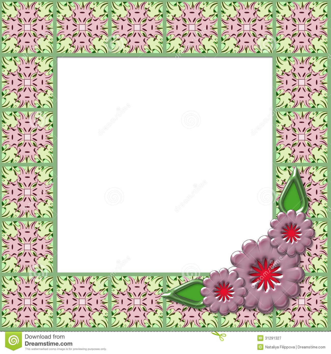Frame With Flowers Royalty Free Stock Photography - Image: 31291327