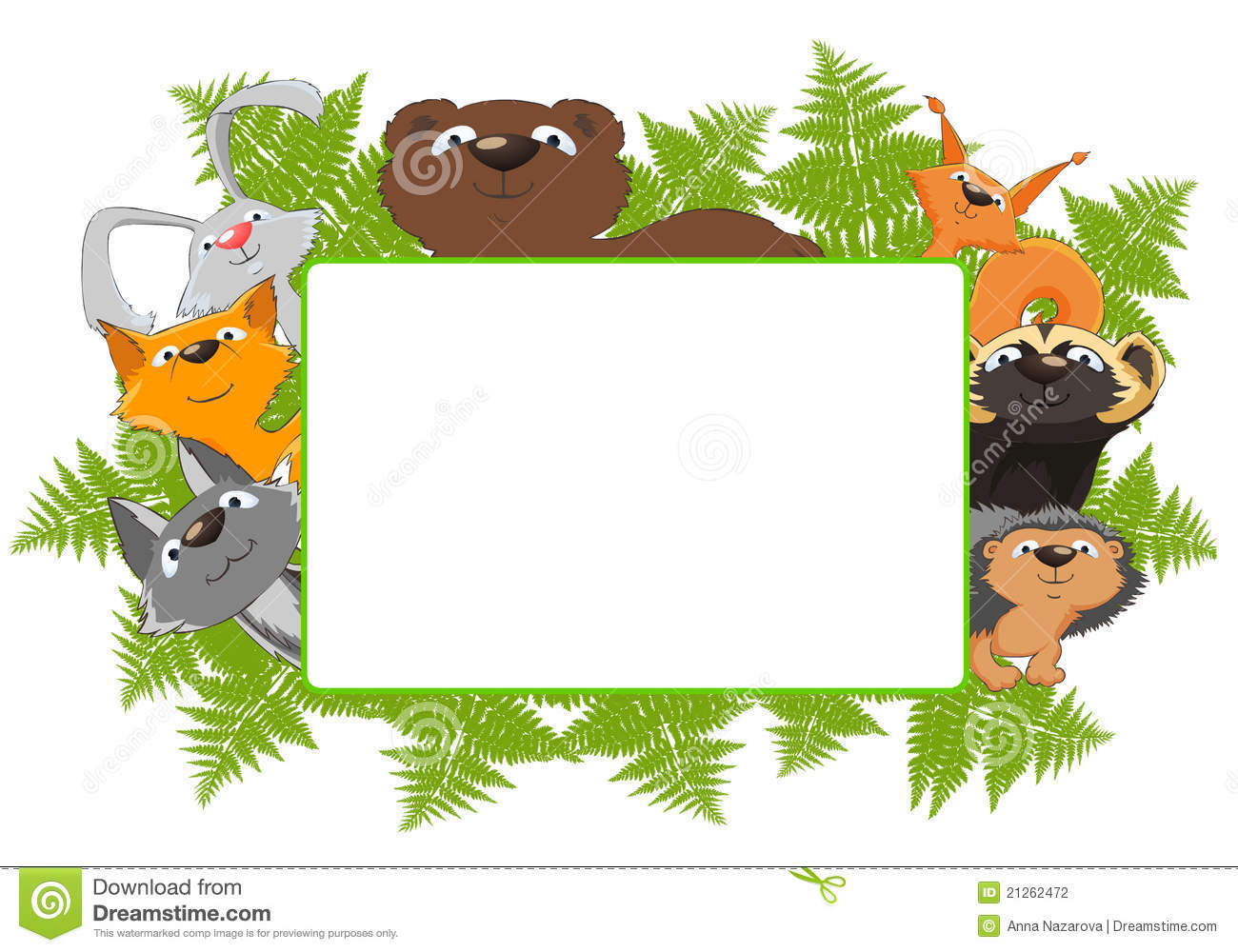 Frame Of Forest Animals Stock Illustration Illustration