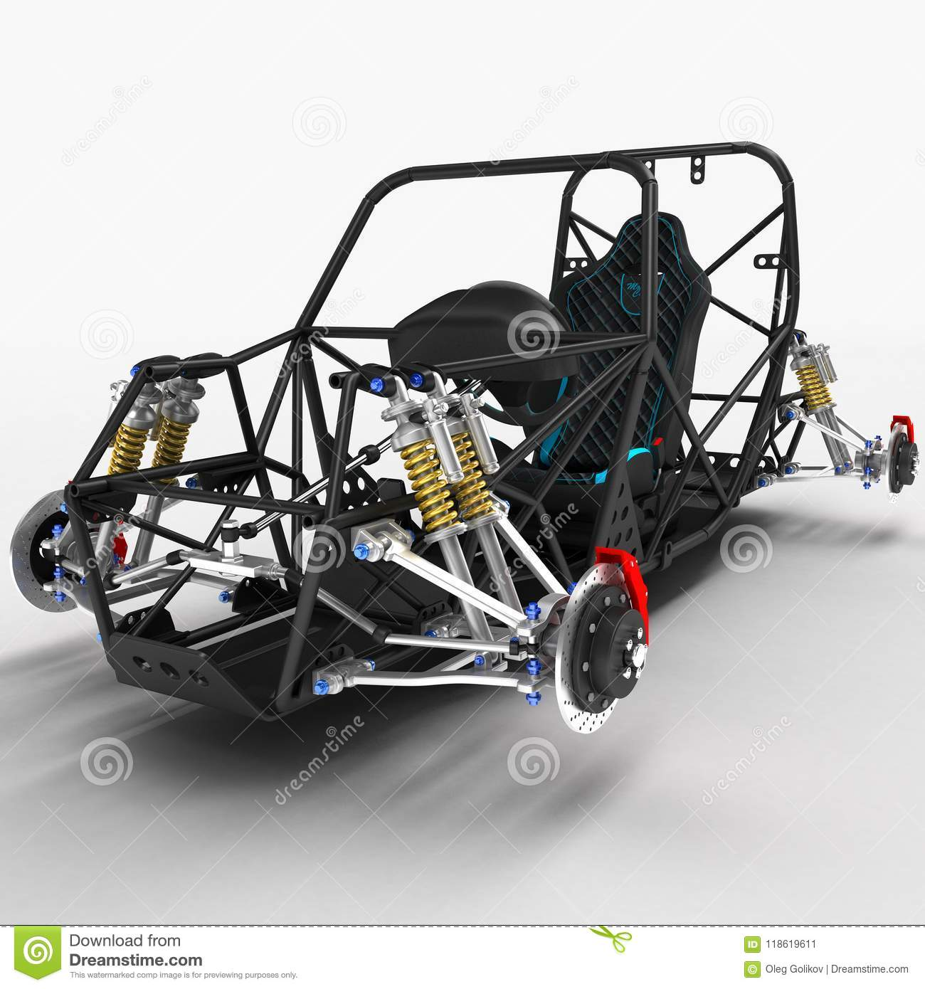 The Frame Frame Of The Sports Car Is A Buggy With The Basic Design