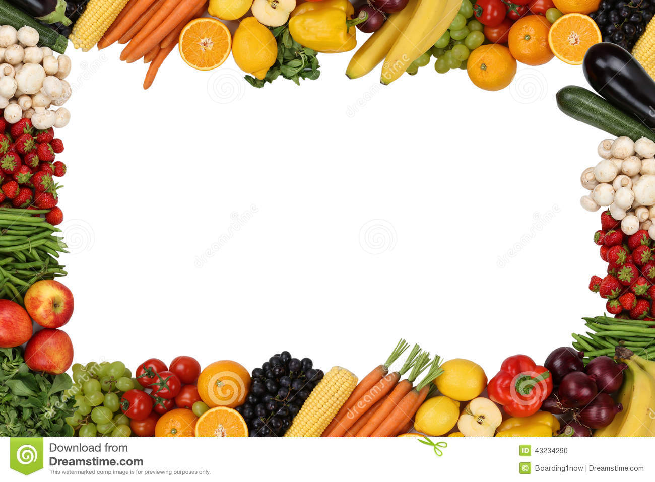 Stock Photo Frame Fruits Vegetables Copyspace Vegetarian Isolated Image43234290 on Lemon Border Clip Art