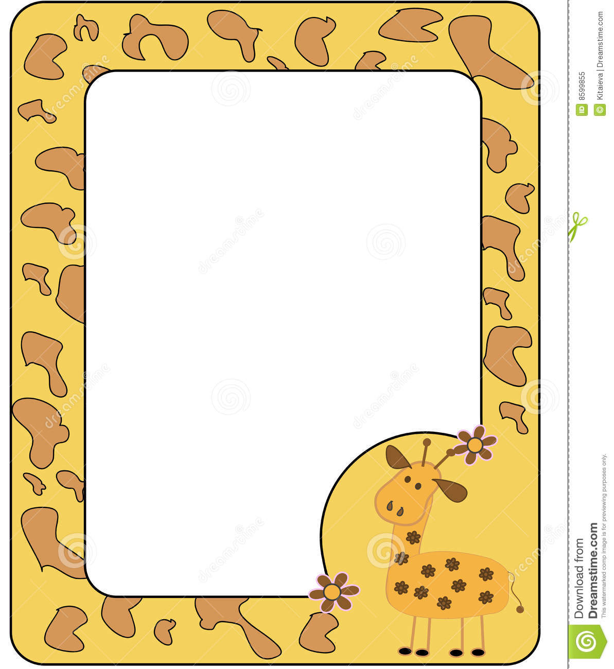 Frame With Giraffe Royalty Free Stock Photo Image 8599855