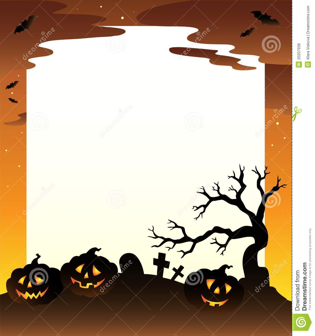 Frame With Halloween Scenery 1 Stock Vector - Illustration of design ...