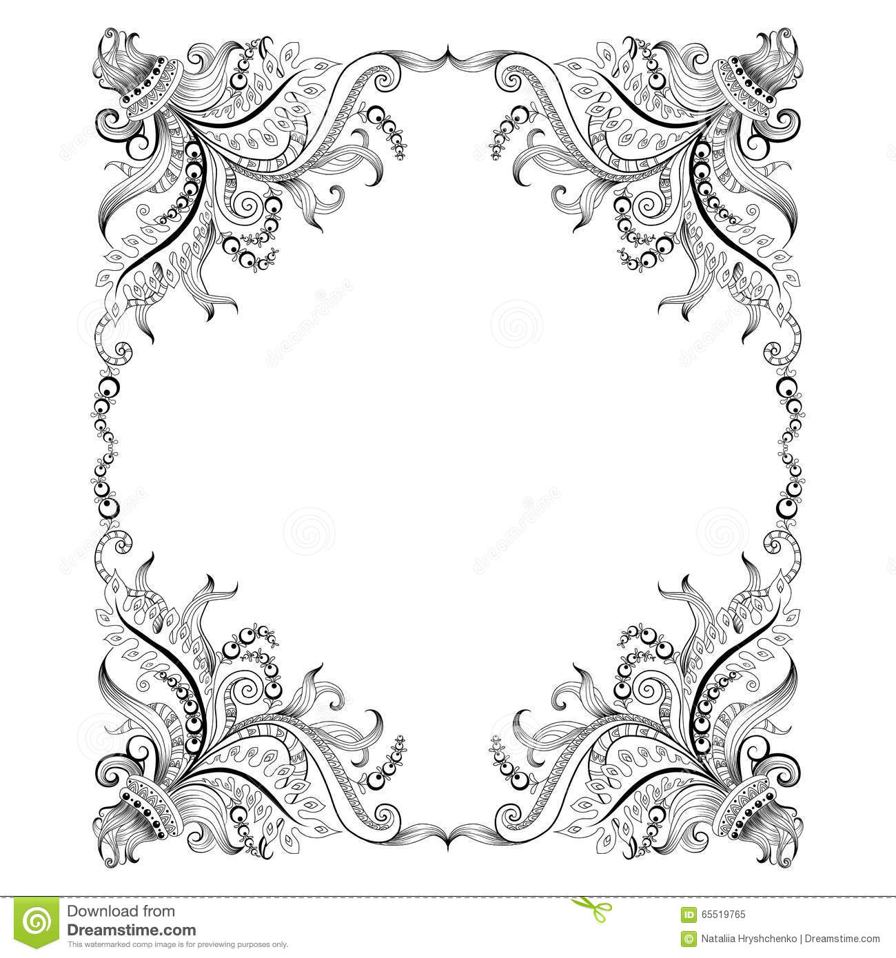 drawing frame designs stock illustration frame hand drawing decorative ornaments graphic floral design image65519765