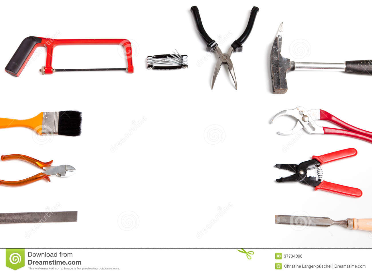 frame of handheld tools and hardware