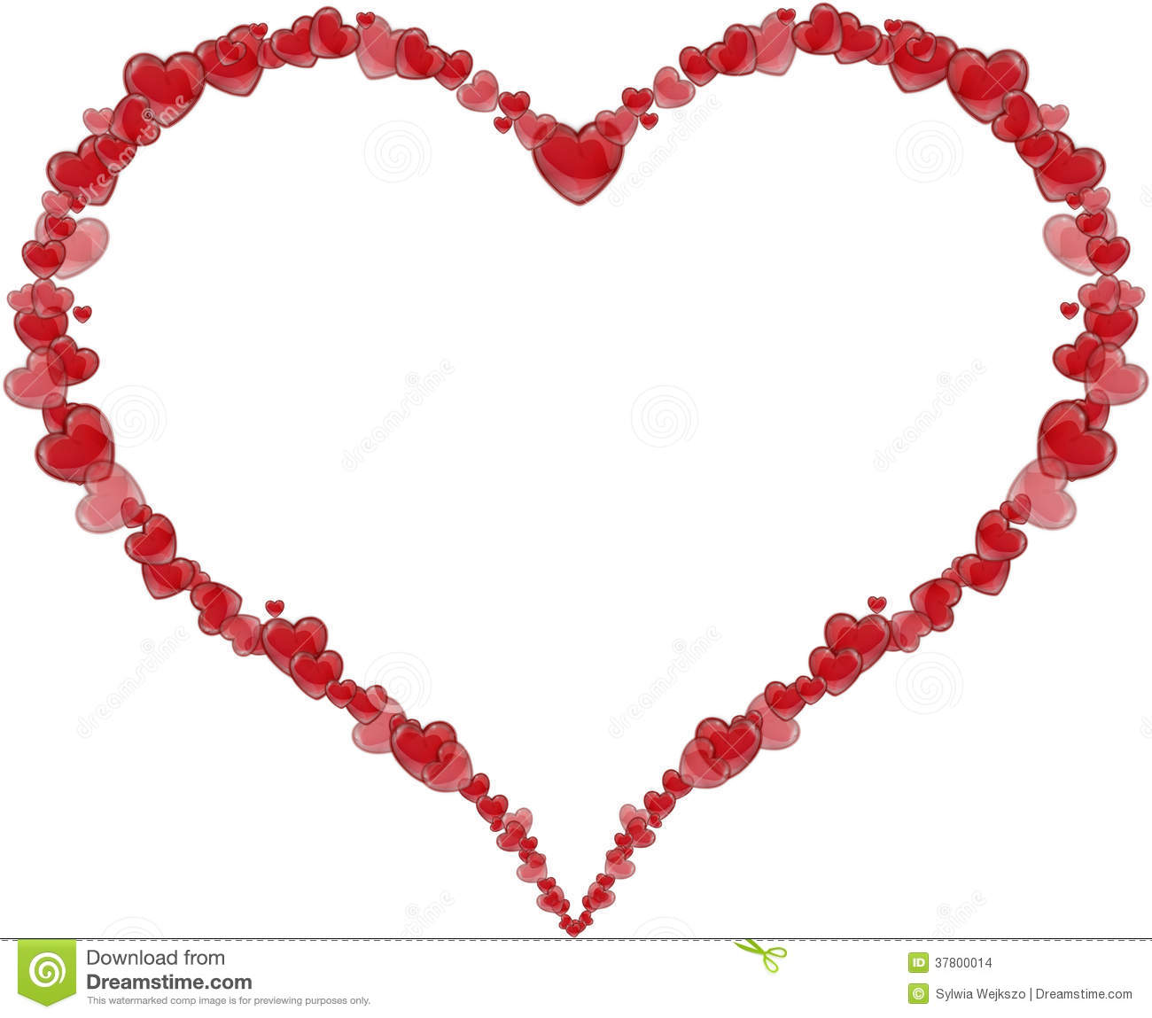 Frame Heart Made Of Hearts For A Valentines Day Or Mothers Stock Images Image 37800014