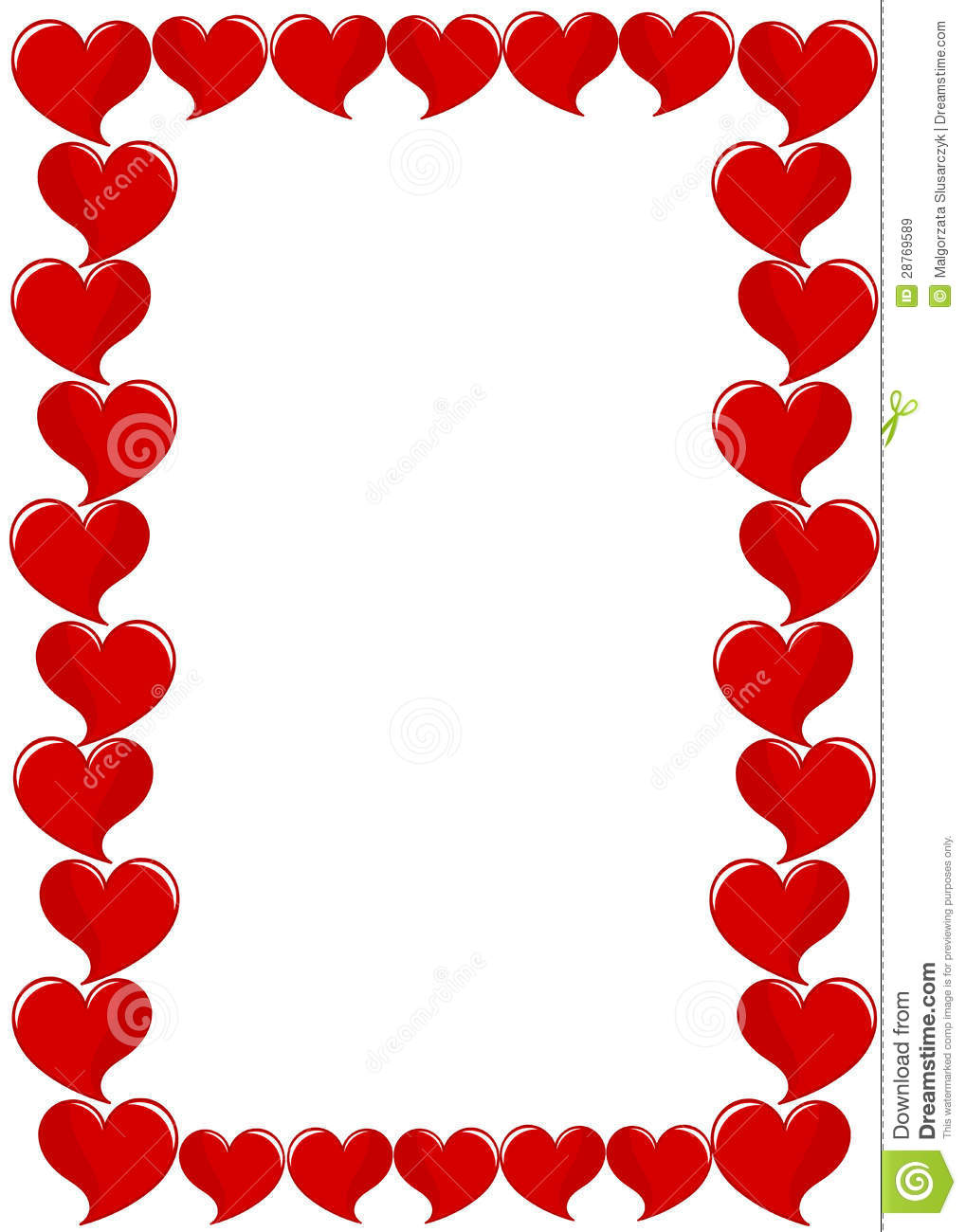 Frame Of Hearts Royalty Free Stock Images Image 28769589