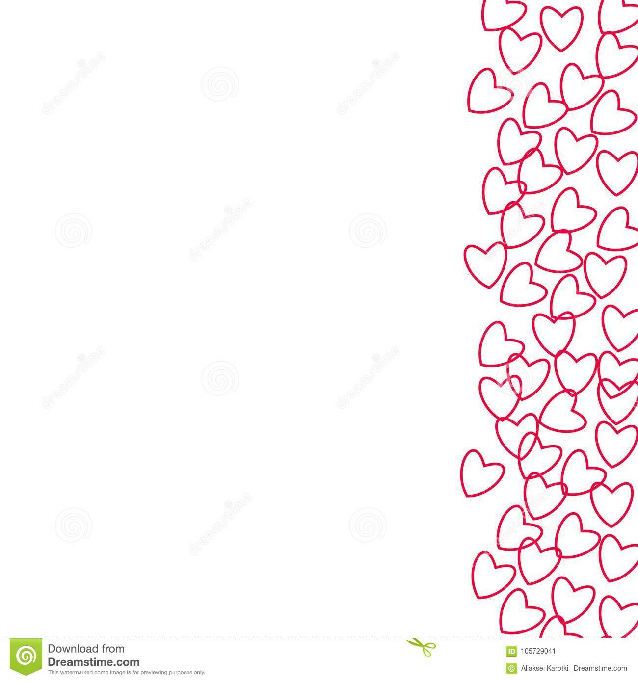 Frame Of Hearts For Decoration Of Cards Invitations For