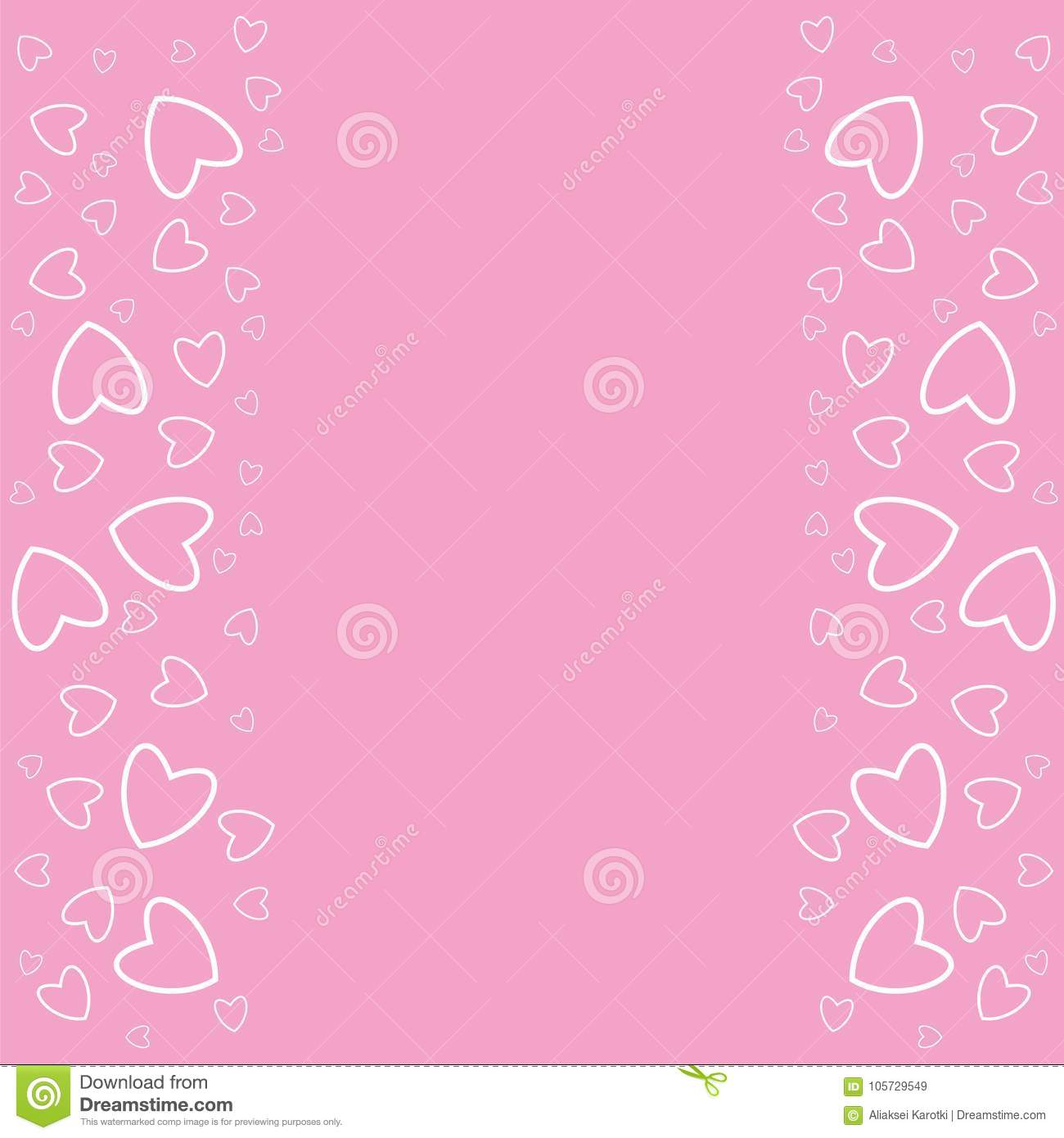 Frame of hearts on a pink background prints greeting cards frame of hearts on a pink background prints greeting cards invitations for holiday birthday wedding valentines day party vector illustration filmwisefo
