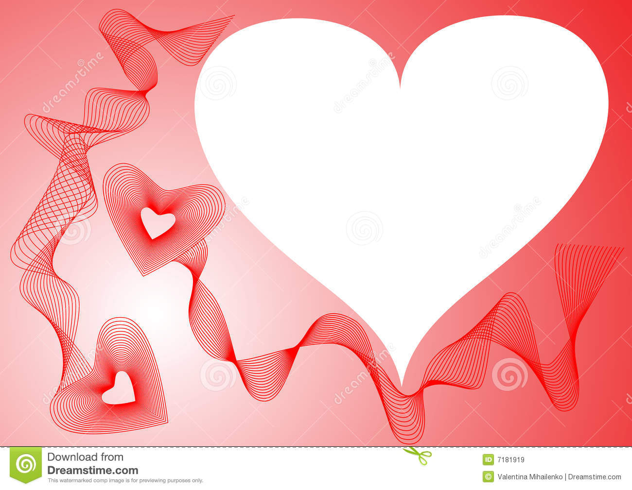 Frame hearts red