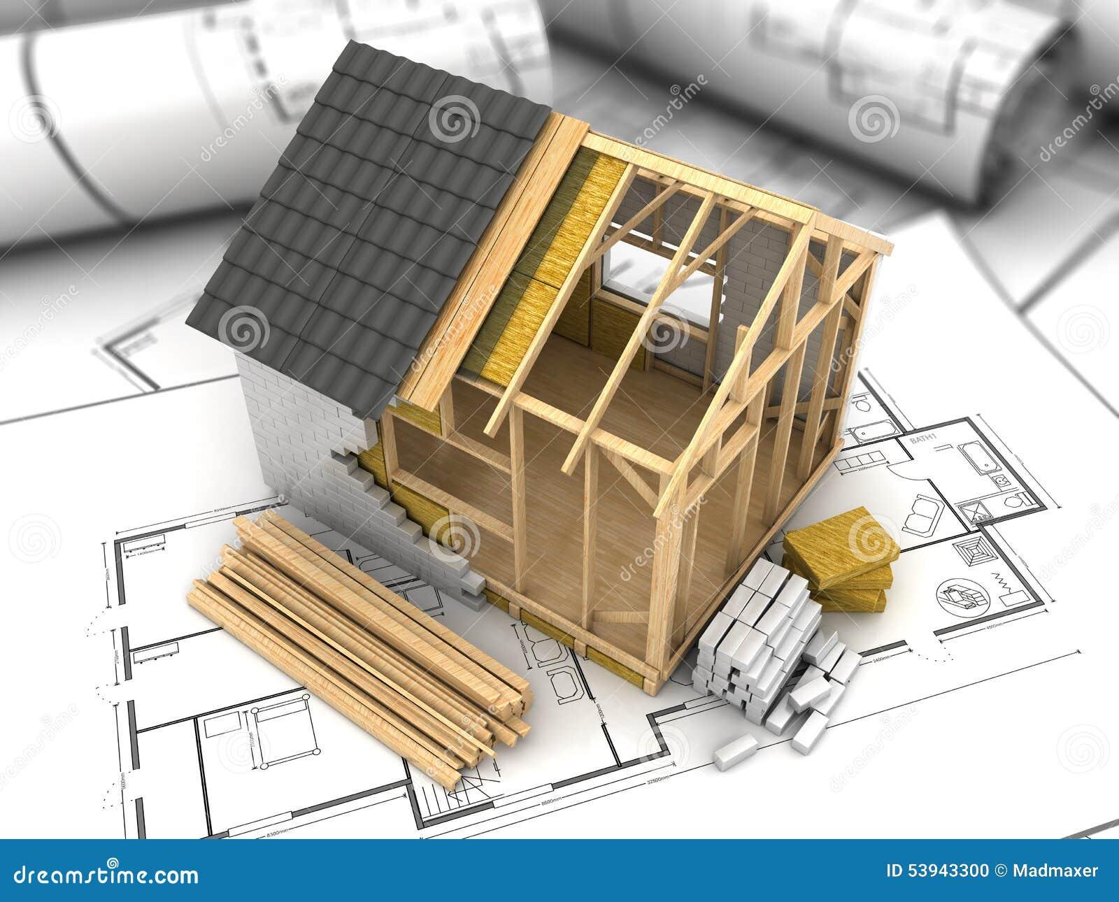 frame house building stock illustration image 63192147