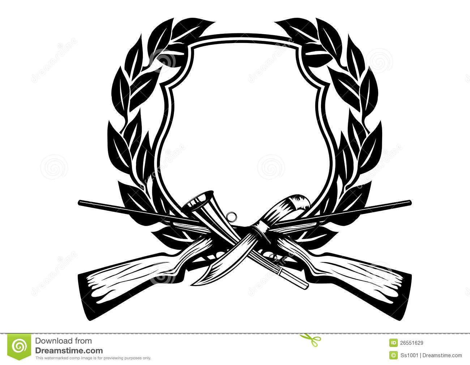 Frame hunting stock vector. Illustration of hunt, garland - 26551629