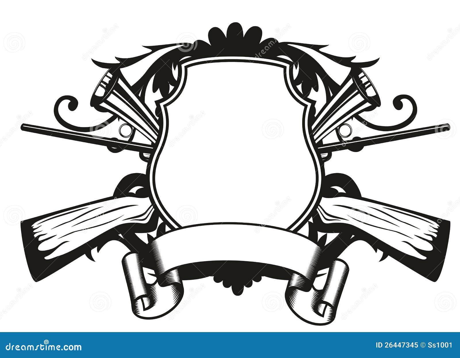 Frame hunting theme stock vector. Illustration of mammal - 26447345