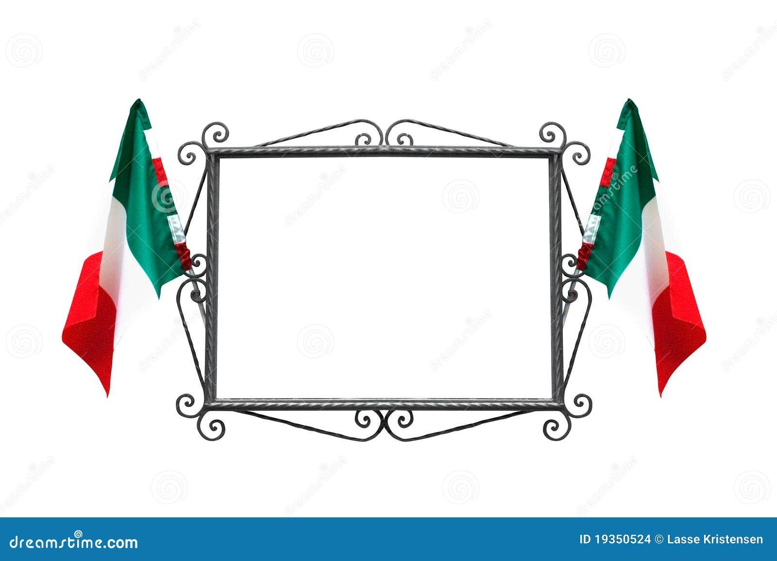 Frame italiano com bandeiras