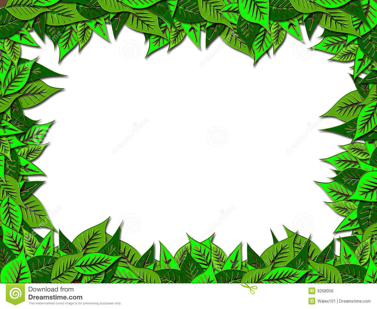 Frame Leaves Royalty Free Stock Image Image 9268056