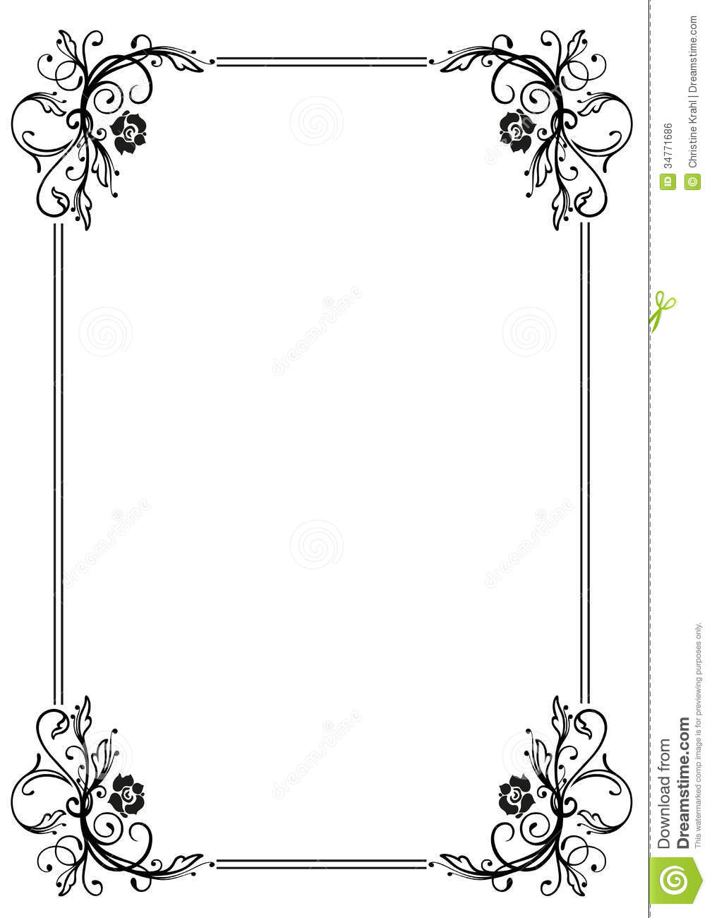 Frame Leaves Stock Vector Illustration Of Abstract