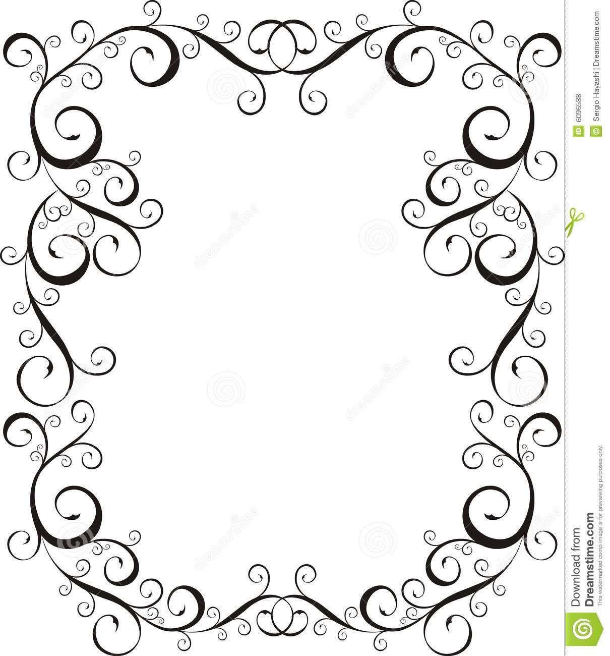 Frame Letter border stock vector. Illustration of craft - 6096588