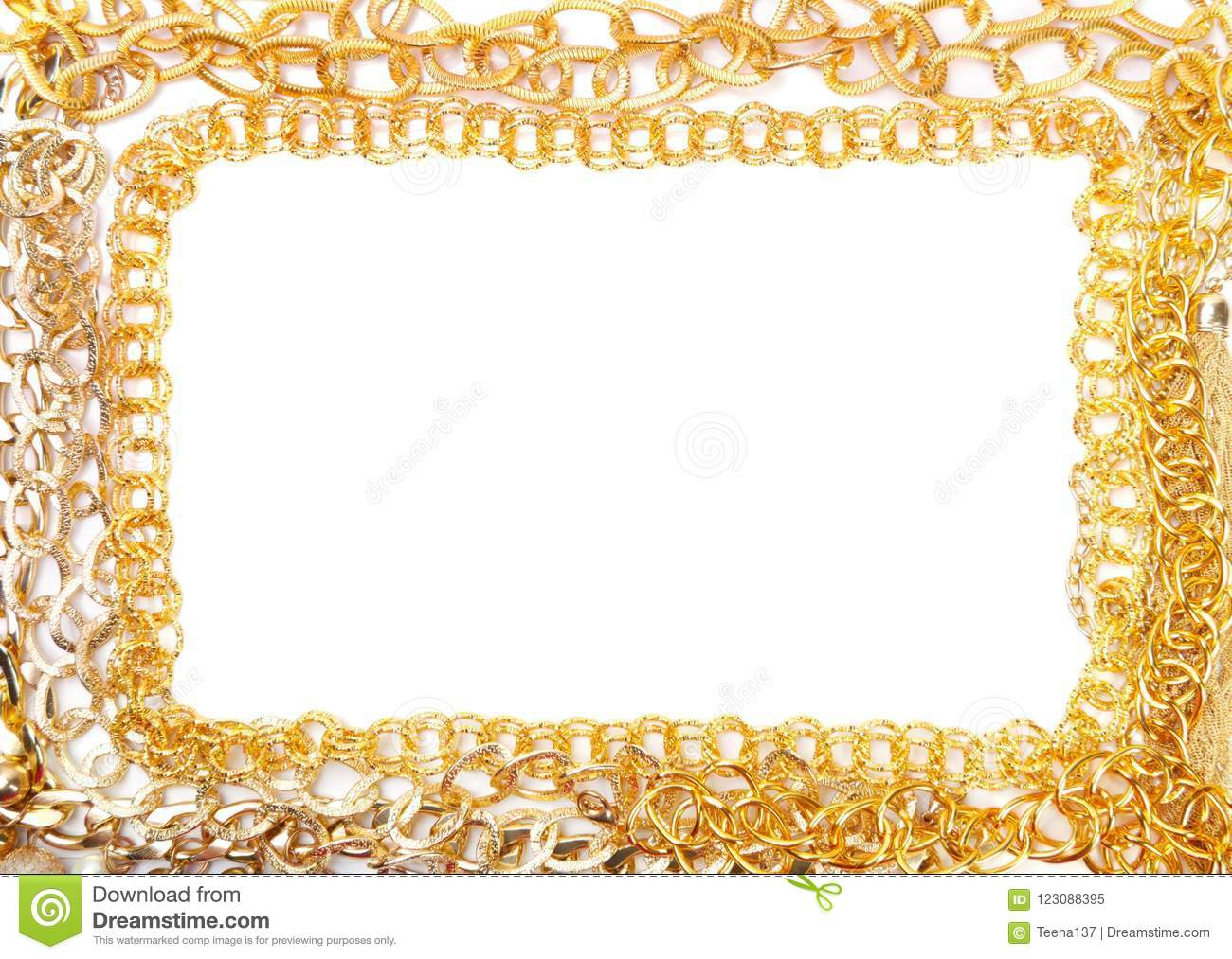Banch Of Golden Jewelry Frame Stock Image - Image of object, jewel ...