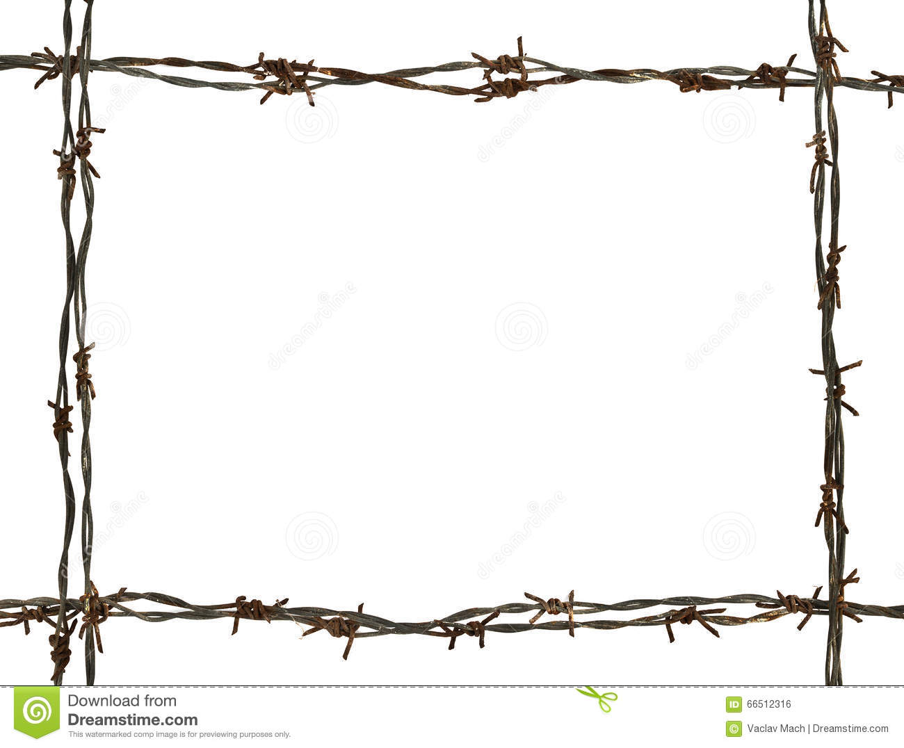 Barbed wire frame royalty free stock photography