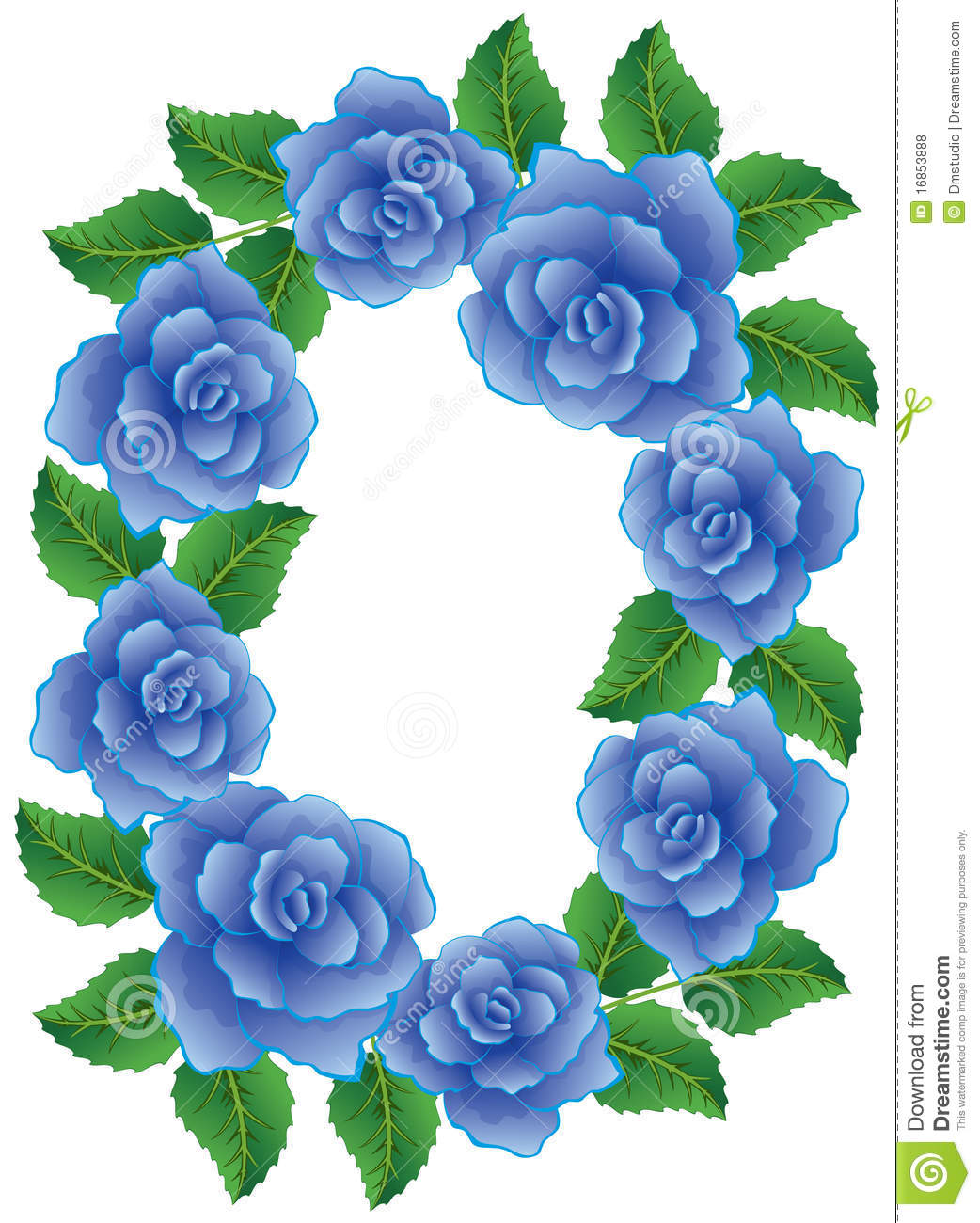 Frame made of blue roses royalty free stock photos image for How are blue roses made