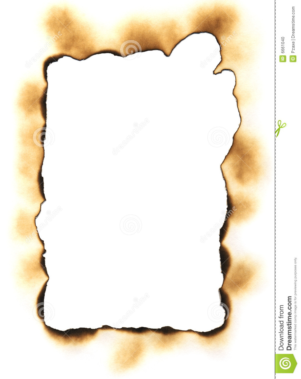 Frame Made Of A Burnt Paper Stock Photo Image 6661040