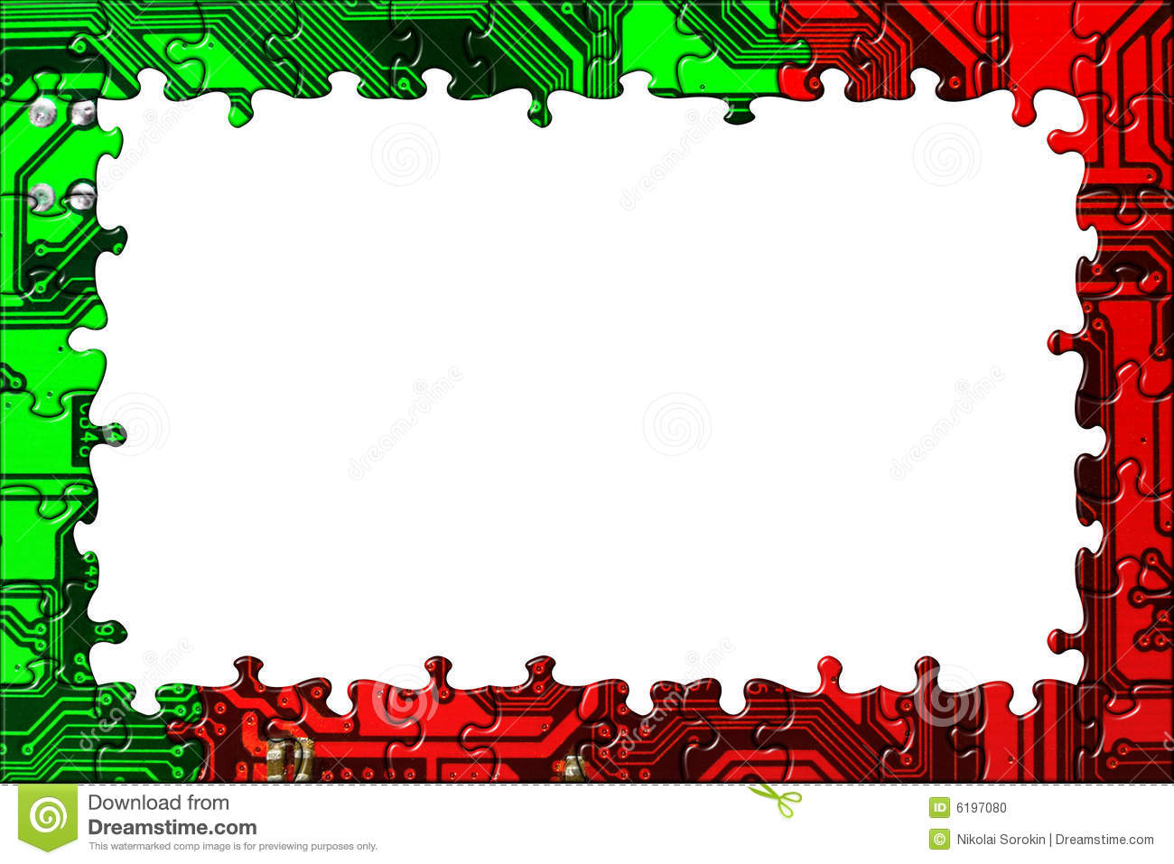 Frame Made Of Computer Puzzle Stock Illustration - Illustration of ...