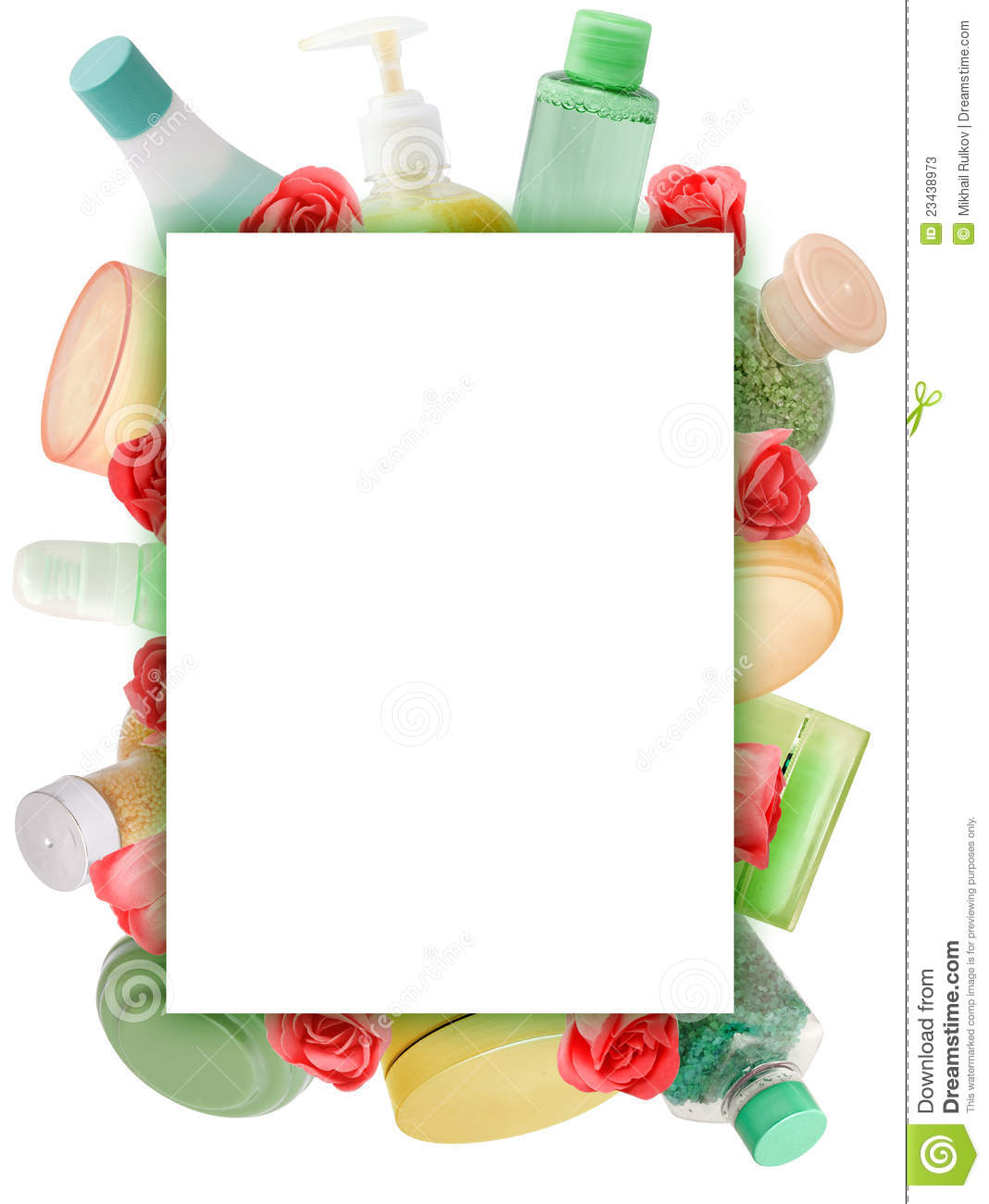 Frame made of cosmetics stock image. Image of arrangement - 23438973