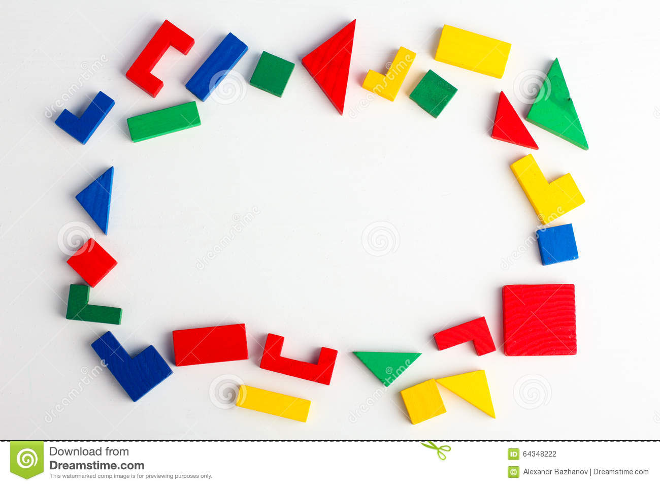 Frame Made Of Geometric Shapes Stock Photo - Image of order ...