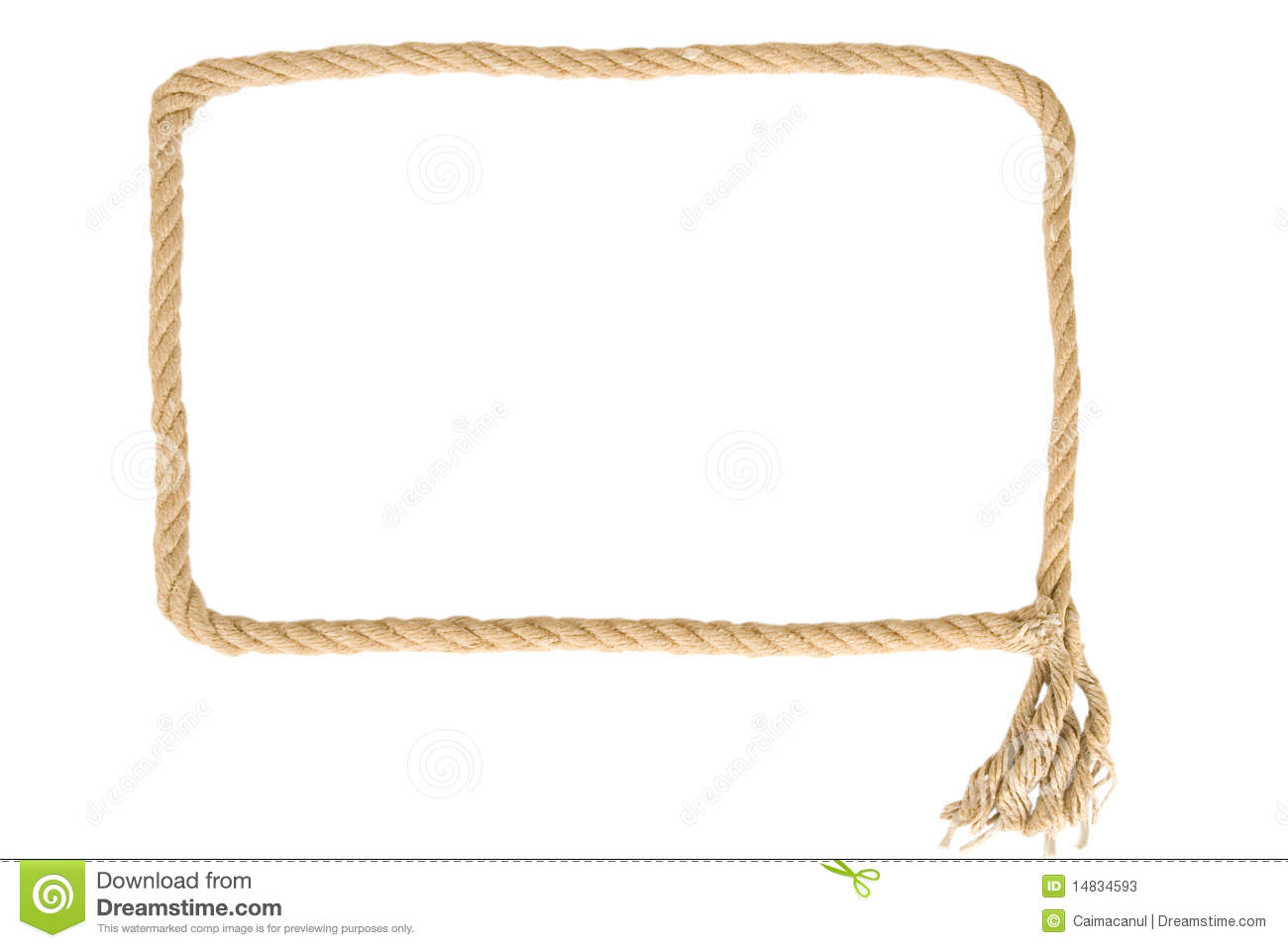 Frame made from rope stock image image of rope natural Rope photo frame