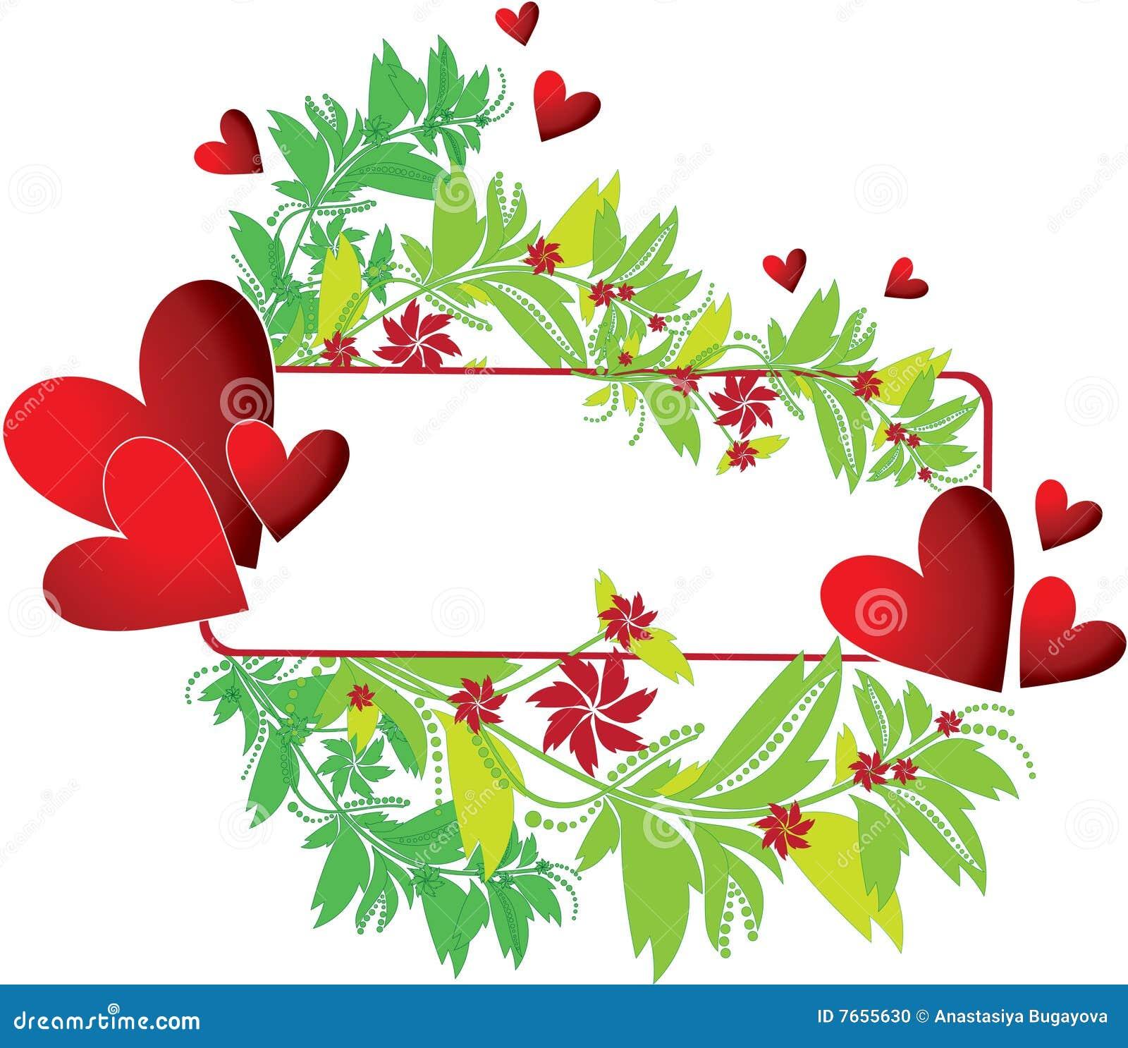 Frame met hart en bloem