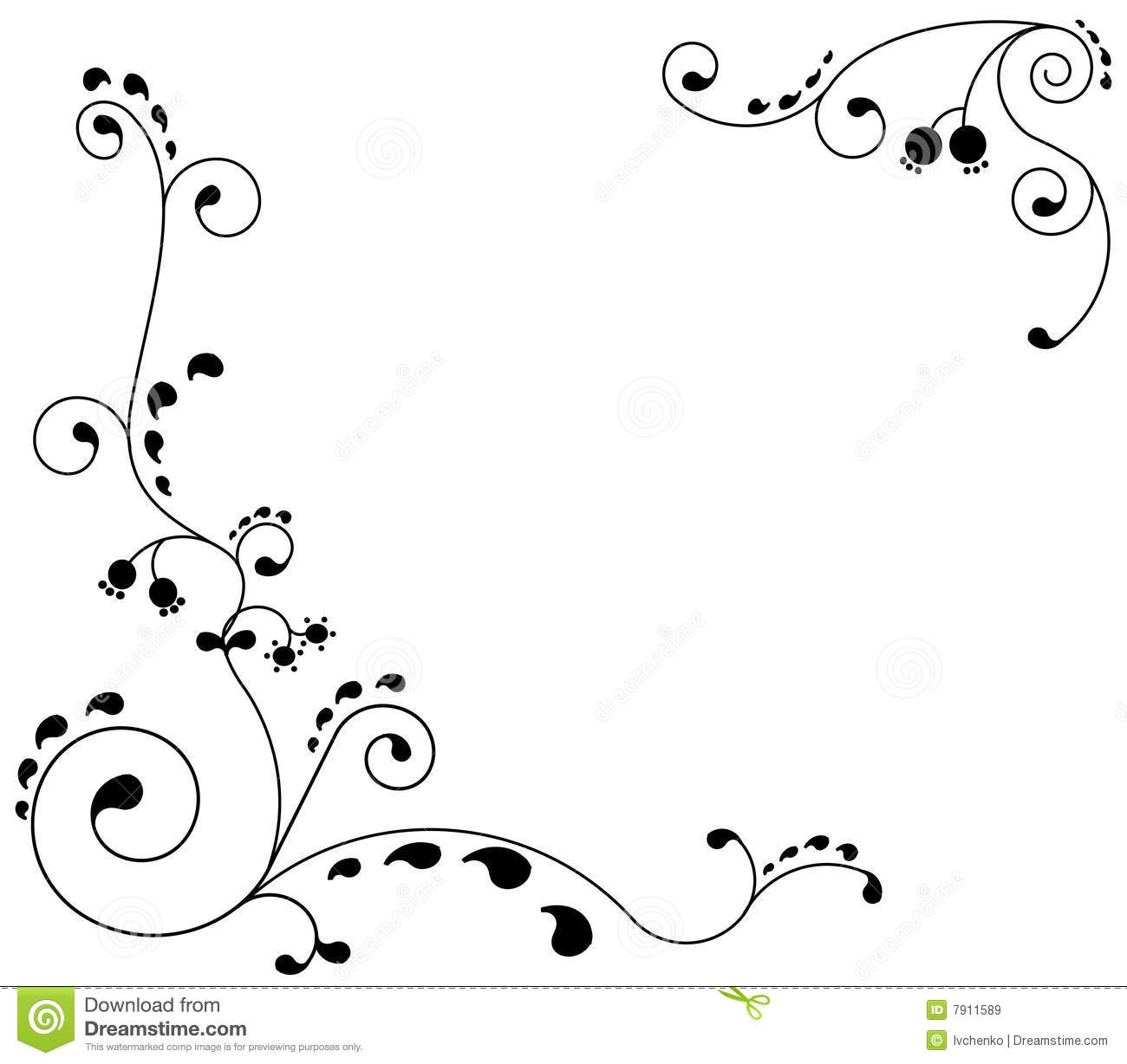 Grey Frame With An Ornament Stock Vector - Illustration of ...