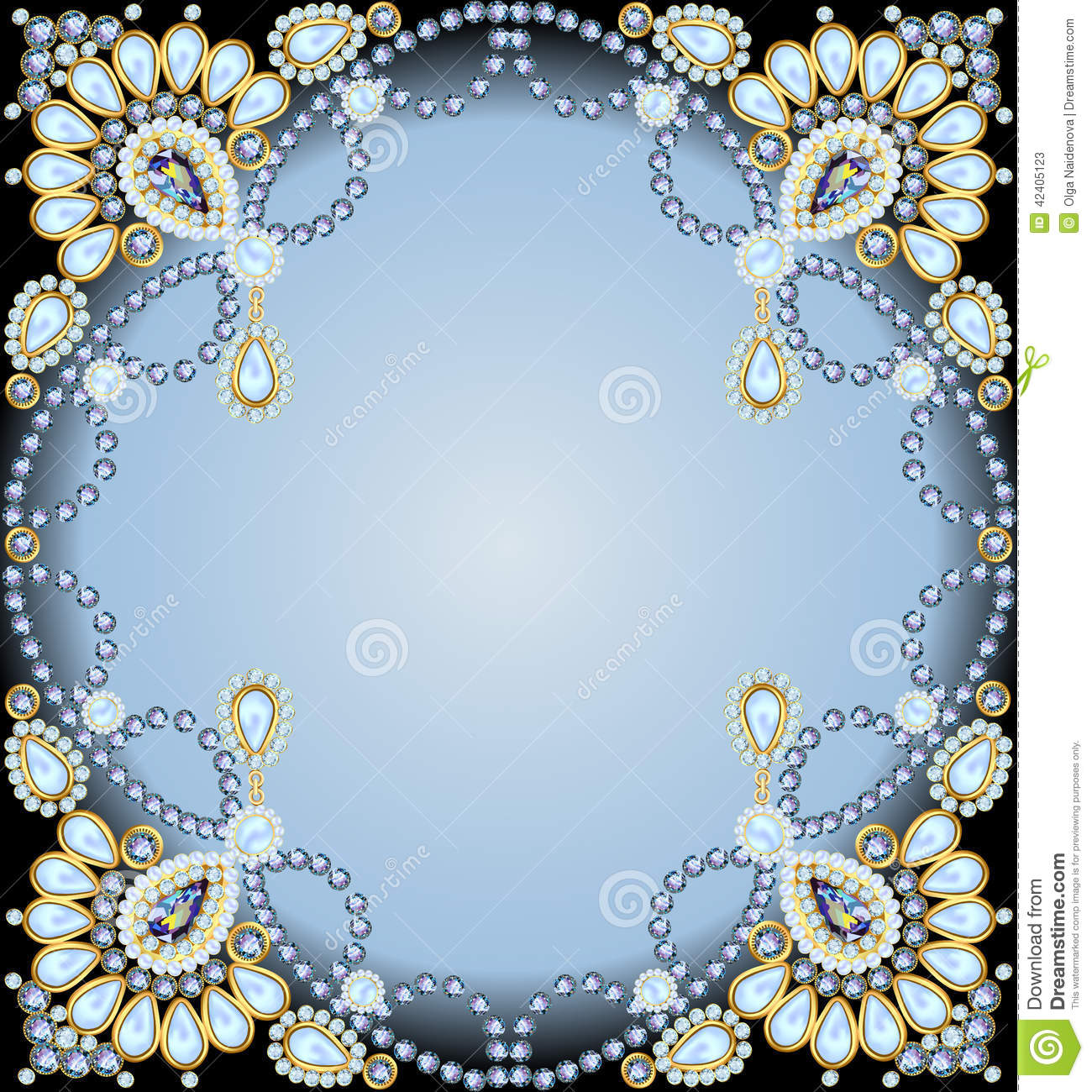 6 Crystal Pearl Photo Picture Frame Diamond Bowknot: Frame With Ornaments Made Of Precious Stones And Pearls