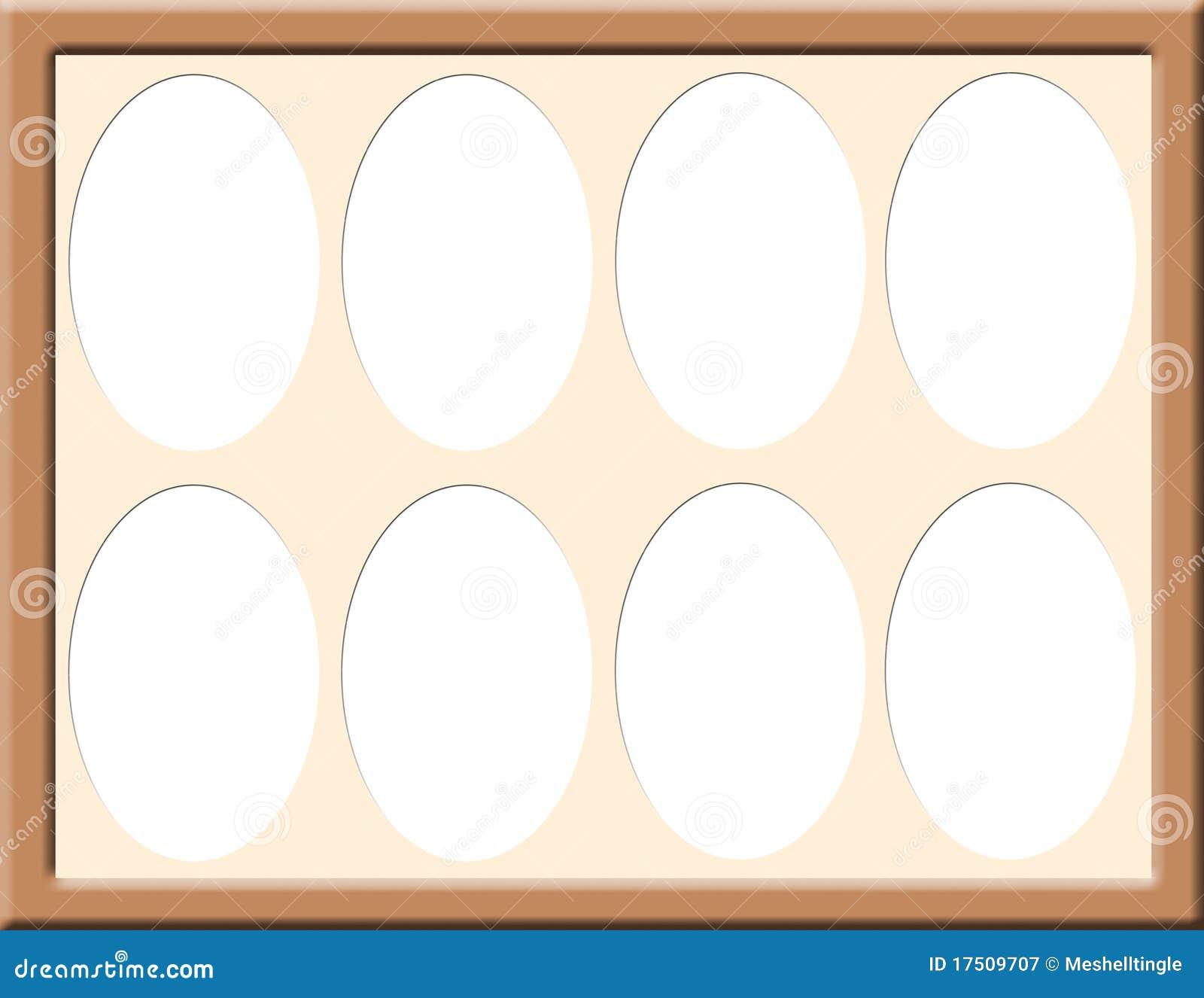 Frame With Oval Mat Stock Illustration Illustration Of Frames