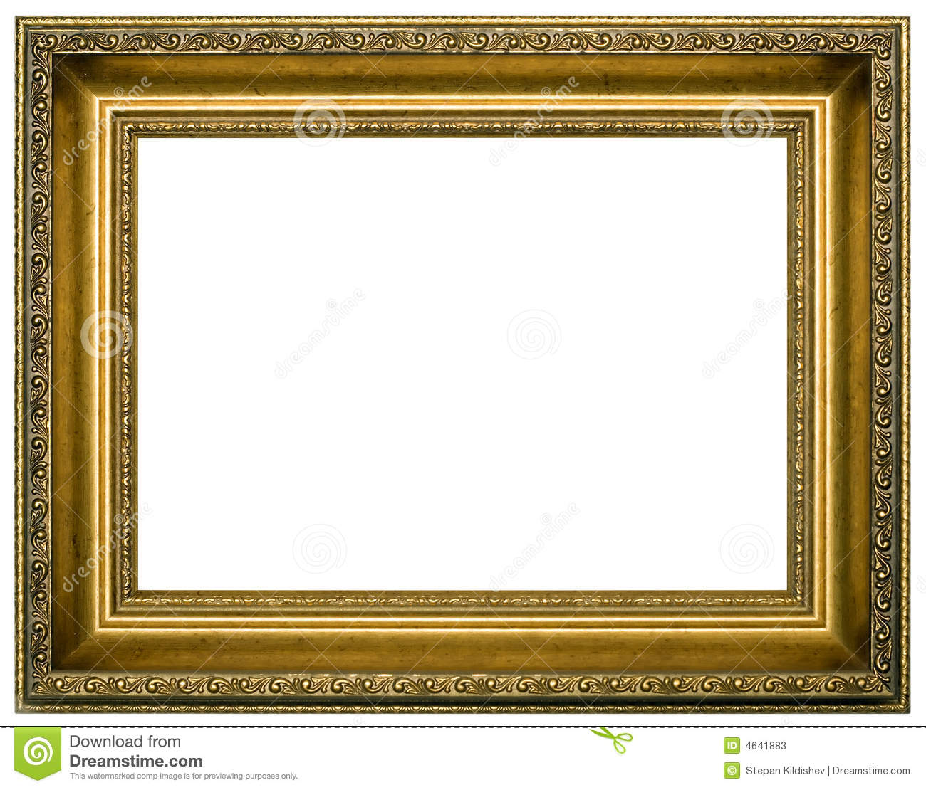 Frame for painting stock image. Image of decoration, empty - 4641883