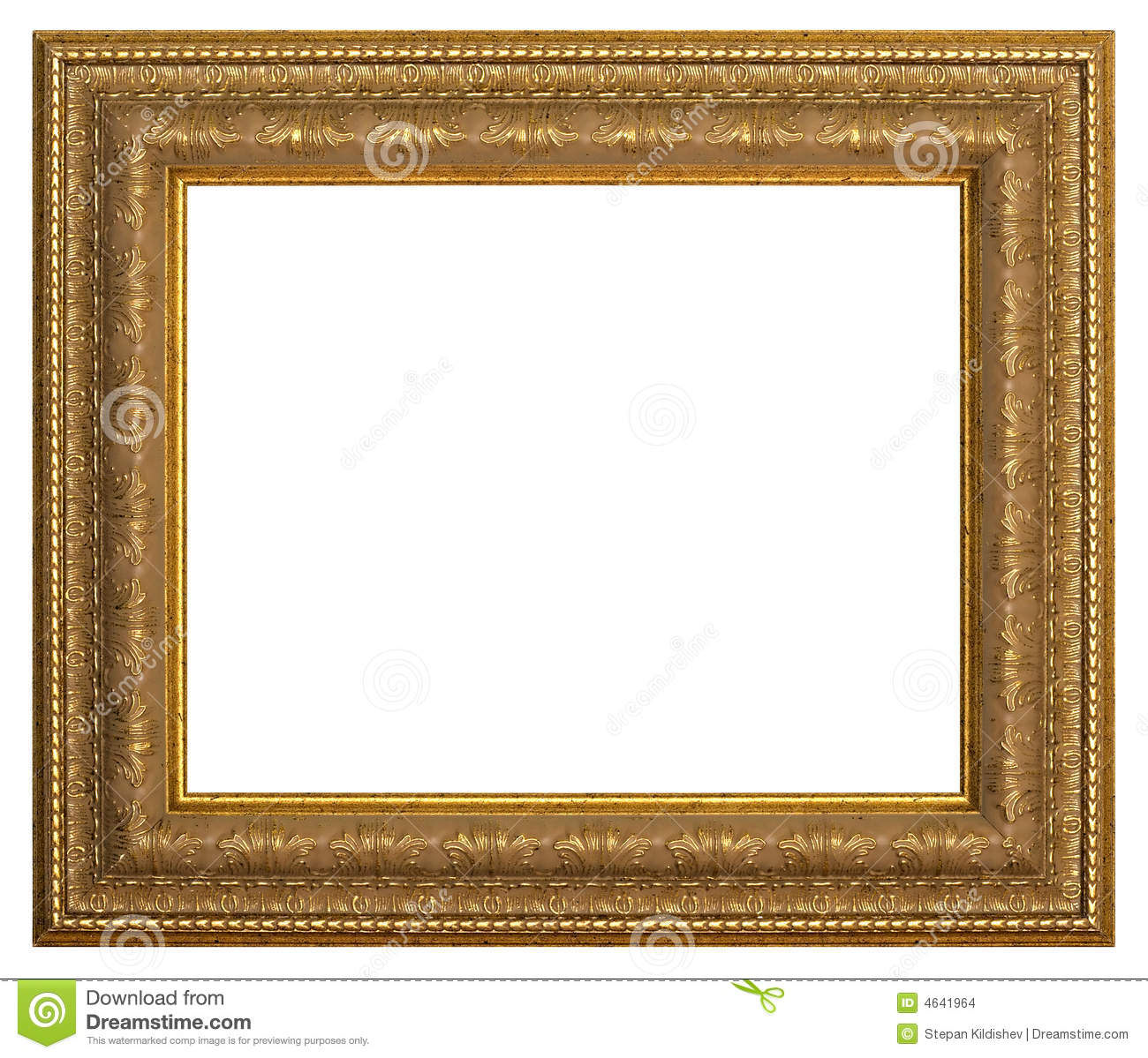 Frame for painting stock photo. Image of carving, isolated - 4641964