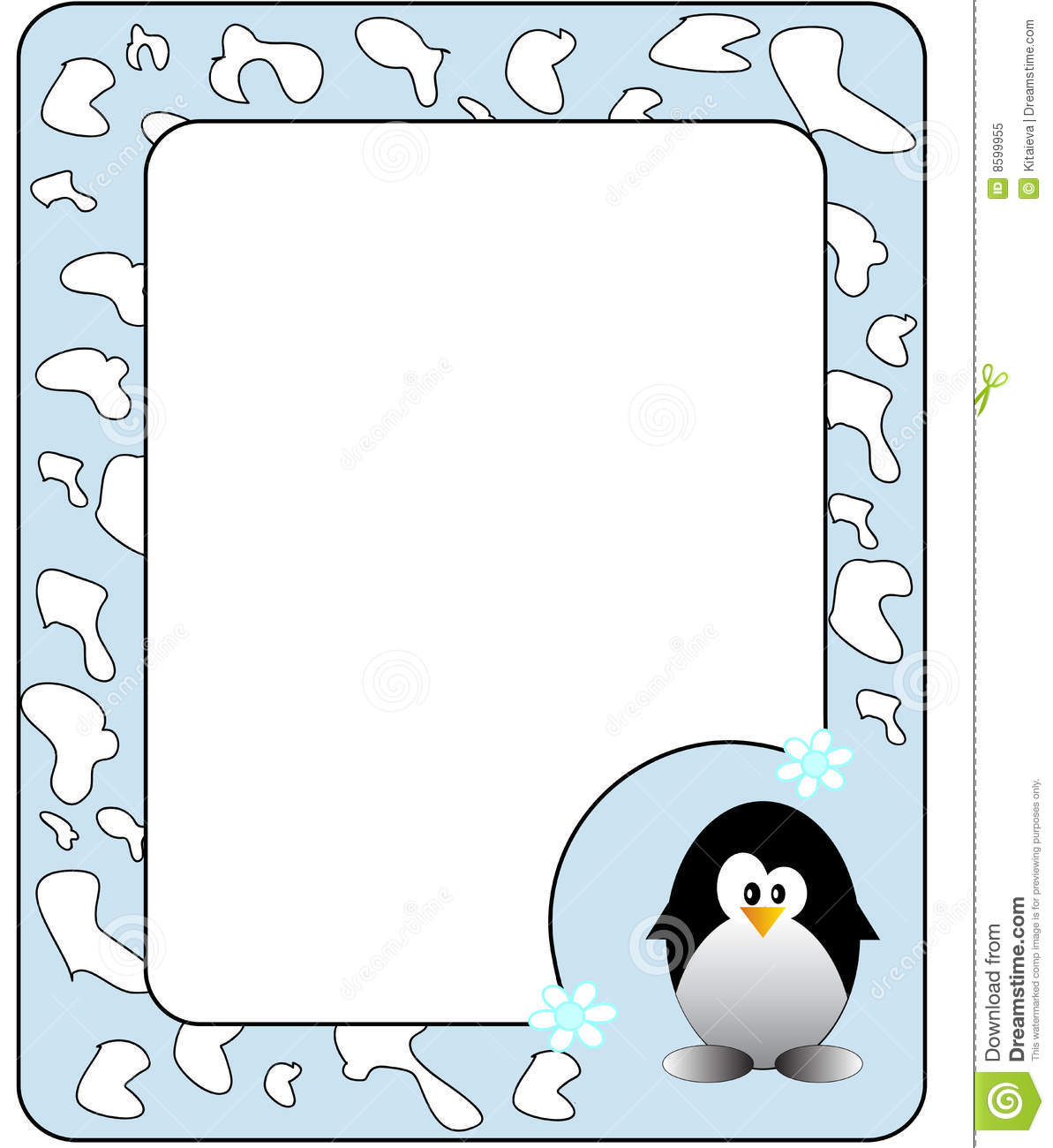Frame With Penguin. Royalty Free Stock Photo - Image: 8599955