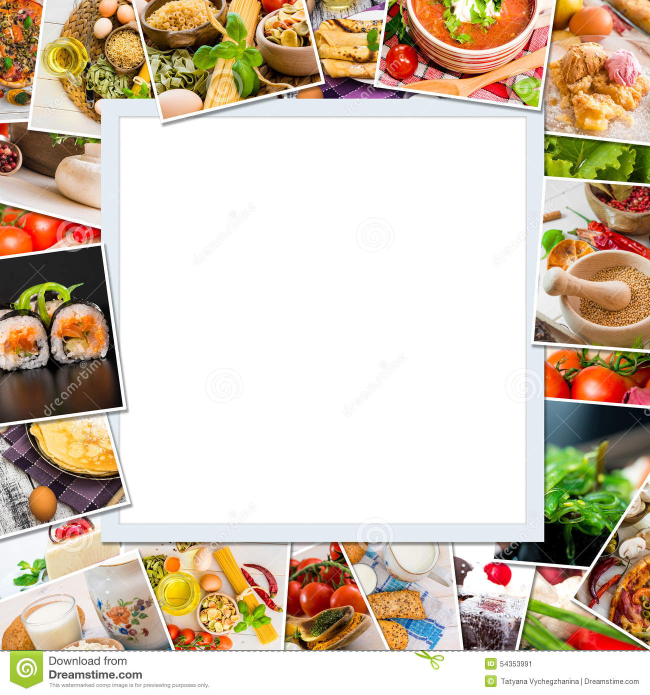 Frame Photos Of Food Stock Photo Image 54353991