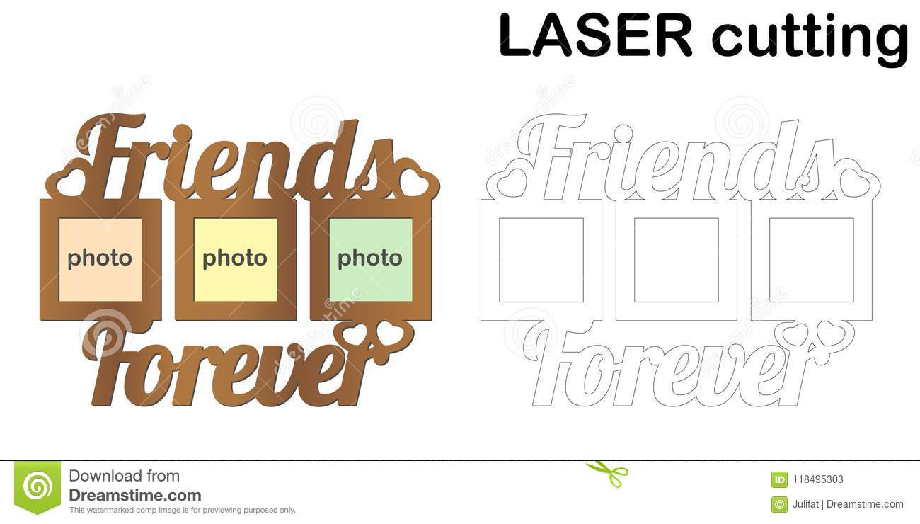 Frame For Photos With Inscription `Friends Forever` For Laser ...