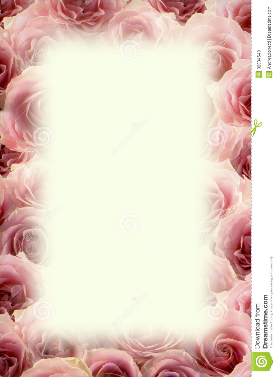 Frame of pink roses stock image. Image of delicate, flowers - 32034549