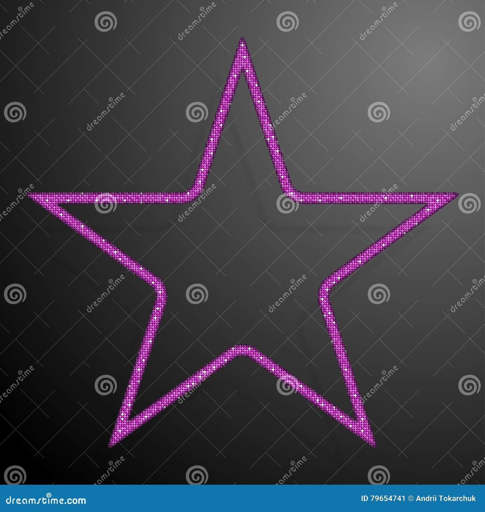 Frame Pink Sequins Star. Glitter, Sparkle.