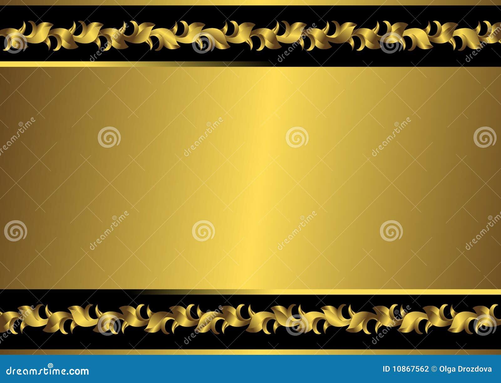 Frame Preto E Dourado Do Vintage Vetor Fotografia De