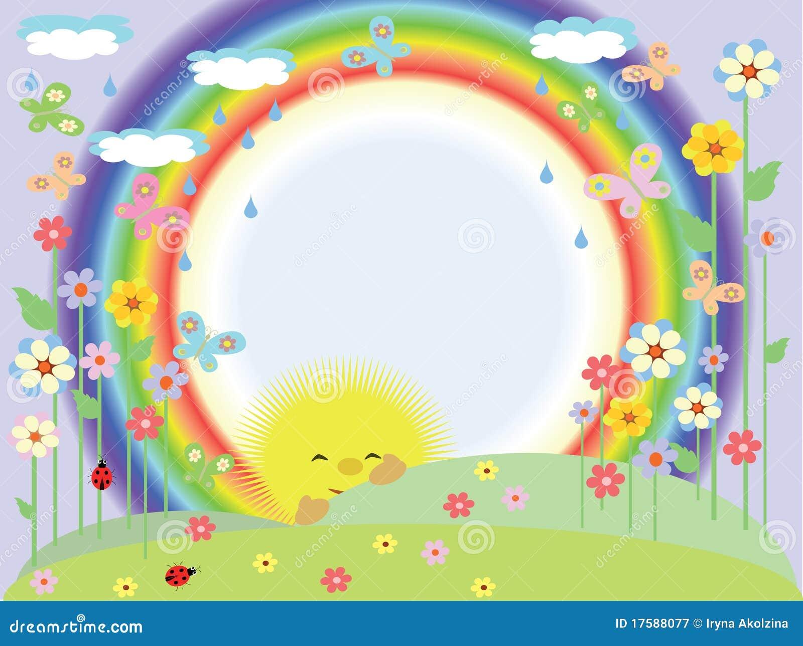 Sun Rainbow Frame Stock Illustrations – 947 Sun Rainbow Frame Stock ...