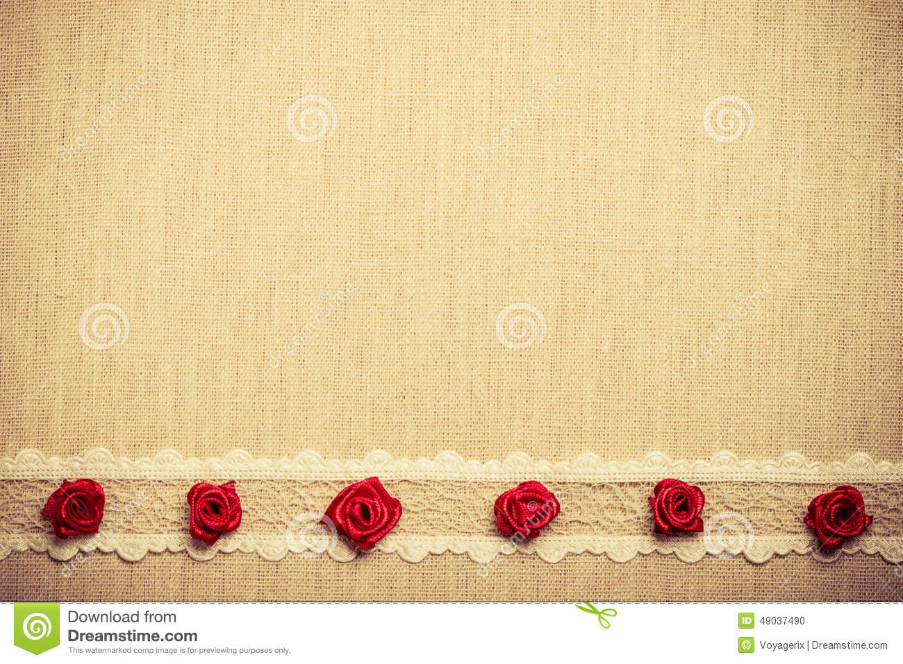 Frame Of Red Silk Roses On Cloth Stock Photo - Image of brown, retro ...
