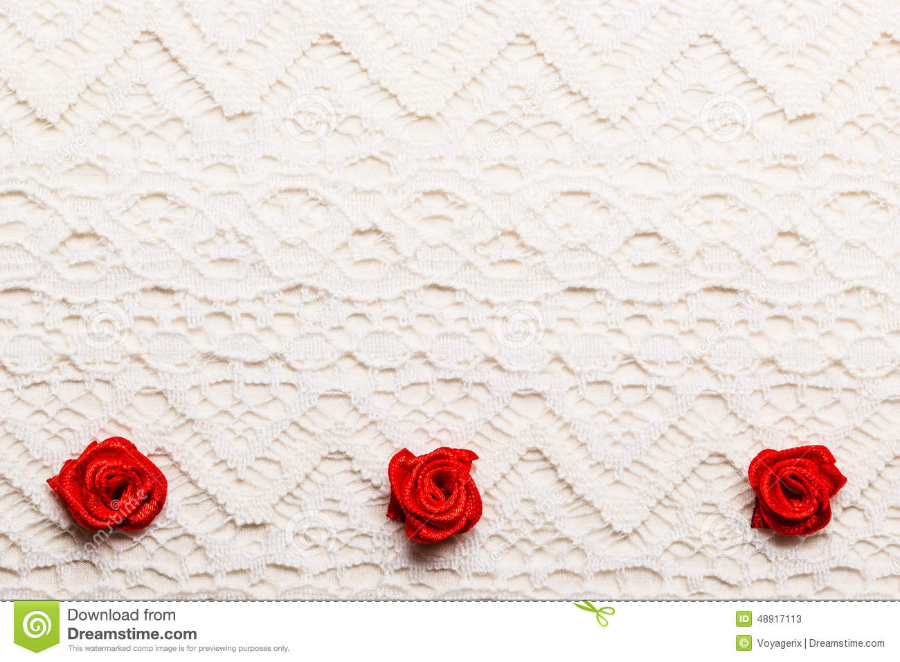 Frame Of Red Silk Roses On Lace Stock Image Image Of Flower