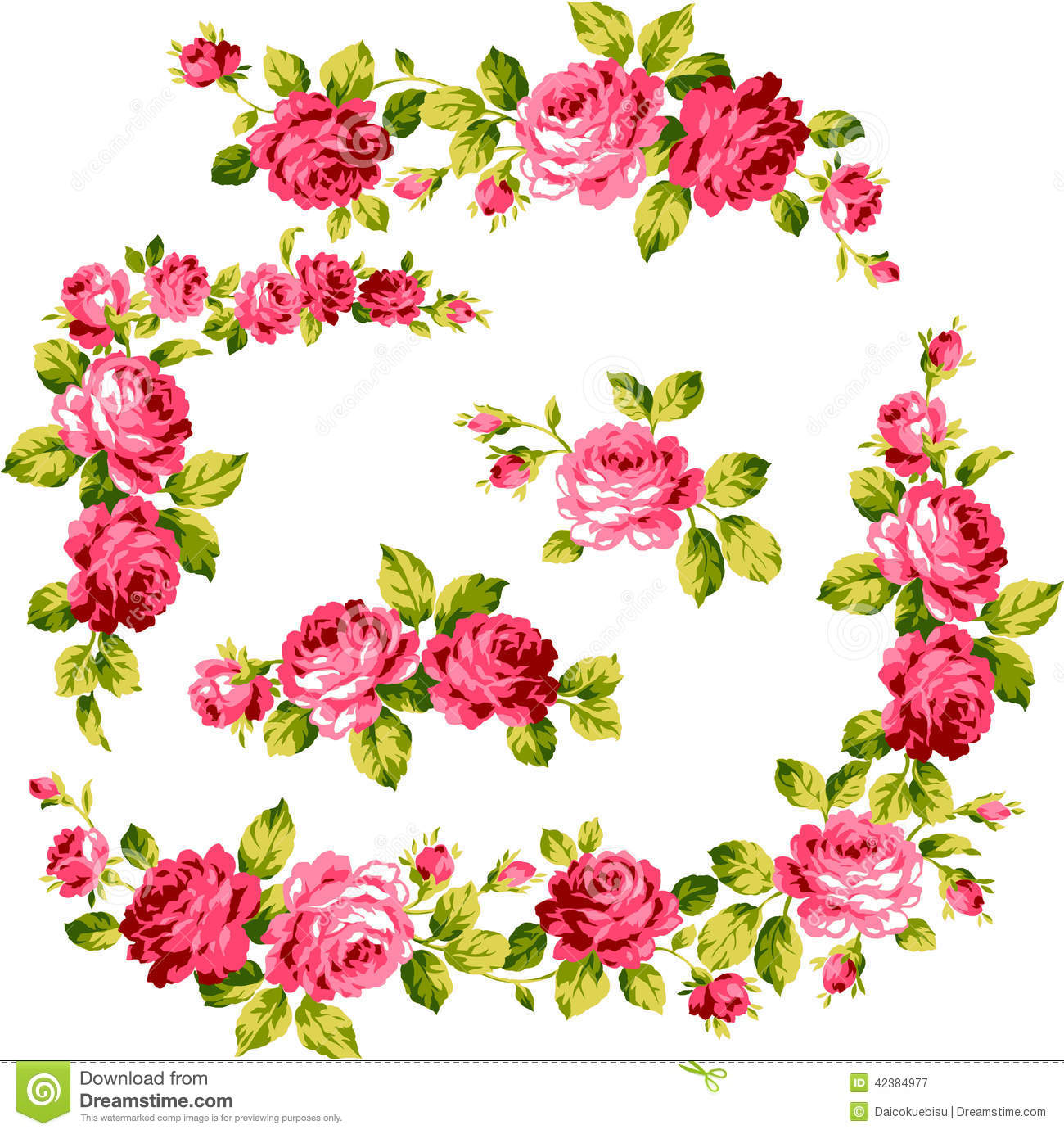 Frame of the rose stock illustration. Illustration of feminine ...