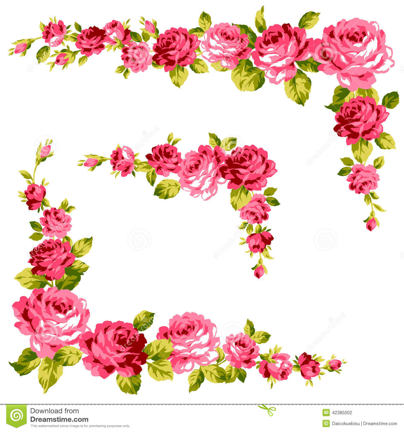 Frame of the rose stock illustration. Illustration of display - 42385002